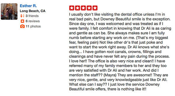 Dr. Samia Ali, Downey Beautiful Smile Best Reviews